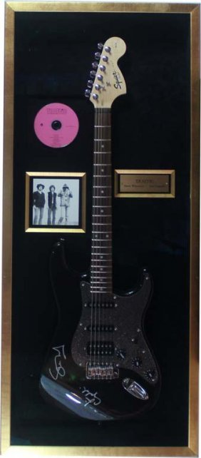 Electric Guitar Signed By Traffic