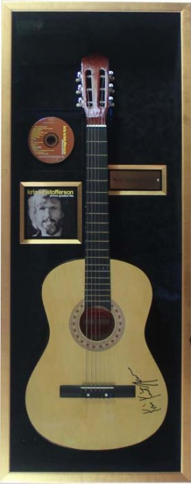 Acoustic Guitar Signed By Kris Kristofferson