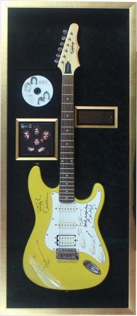 Electric Guitar Autographed By Queen