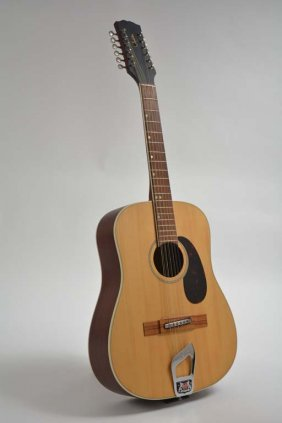 C. 1960s Bjarton 12-string Acoustic Guitar (owned By