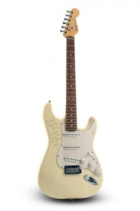1991 Fender Stratocaster, Owned & Signed By Nils