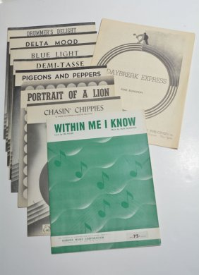 Lot Of 9 Written And Owned Sheet Music By Duke