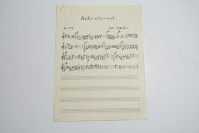 """""""naturellement,"""" Handwritten Composition"""