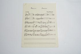 """amour Amour,"" Handwritten Composition"
