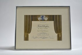 Certificate From The Queen Elizabeth Ii For The Royal