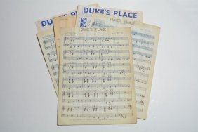 """duke's Place,"" Sheet Music"