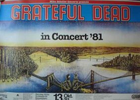 A Poster For The Grateful Dead At Walter Kobel-Hall