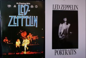 Led Zeppelin Photo Book And 1977 Tour Brochure