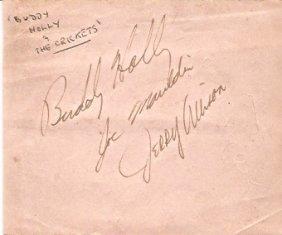Buddy Holly & The Crickets Autographs