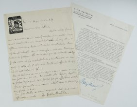 Balilla Pratella, Francesco E Bixio Cherubini Letter
