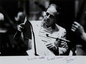 Boulez, Pierre Fotografia Autografata