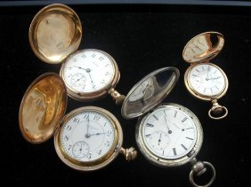 4 Pocket Watches Including Some W/Hunter Cases