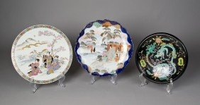 (3) Pieces Japanese Porcelain