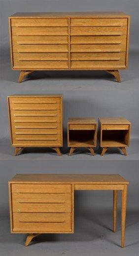 5 Pc. Mid Century Bedroom Set