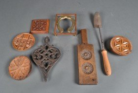 Grouping Of (8) Primitive Kitchen Articles