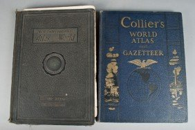 (2) Collier's & New International Atlas Books