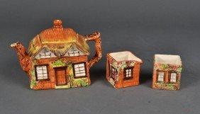 (3) Piece Price Bros. English Cottage Tea Set