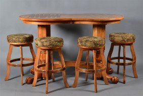 (5) Piece Bar Games Table And Stools