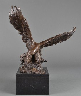 Signed F. Ratin Bronze Sculpture