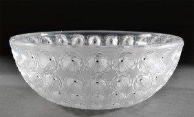 A Fine Lalique Nemours Crystal Bowl
