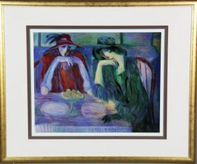 """Barbara A. Wood Lithograph Titled """"Two Sisters"""""""