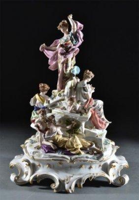A Fine Rudolstadt Porcelain Figural Group