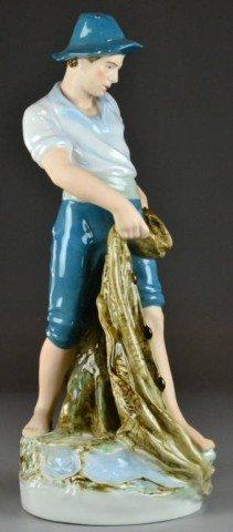 A Fine & Large Royal Dux Porcelain Figurine