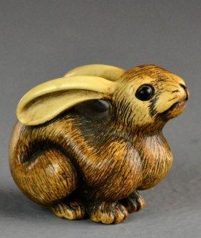 Japanese Carved Ivory Netsuke Meiji Period