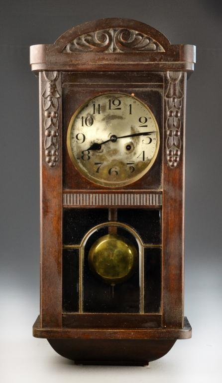 Antique german pendulum wall clock lot 275 for German pendulum wall clocks