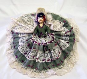 1960's Mexican Doll 10.5