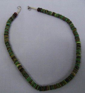 Navajo Nevada Green Turquoise Necklace - Begay