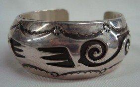 Navajo Sterling Silver Cuff Bracelet - Carol Kee