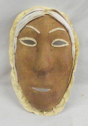 Vintage Eskimo Hide Mask