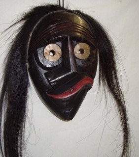 Seneca Wooden False Face Mask - Skanawati
