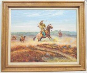 Original Framed Painting - White Eagle