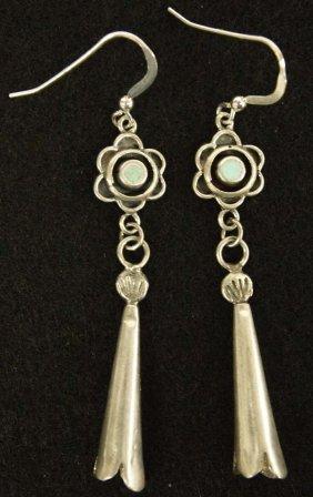 Native American Navajo Silver Turquoise Earrings