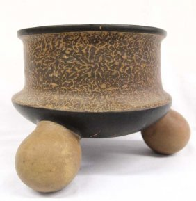 Unusual Mexican Texcoco Rattle Bowl