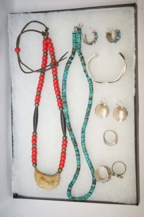 Collection Of Sterling Jewelry, Some Native Amer.