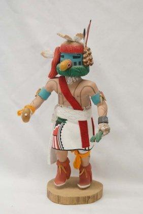 Hopi Tasaf Carved Wood Kachina By N. Selestewa