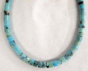 Navajo Turquoise And Sterling Silver Choker