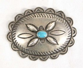 1950 Navajo Sterling Silver Concho Pin