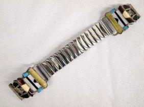 1940 Zuni Stone To Stone Inlay Kachina Watch Band