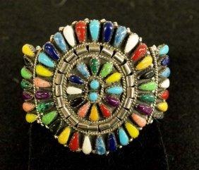Navajo Sterling Cluster Bracelet By J. Williams