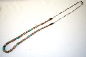Native American Santo Domingo Heishi Necklace