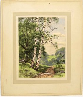 Original Charles Grant Davidson Watercolor