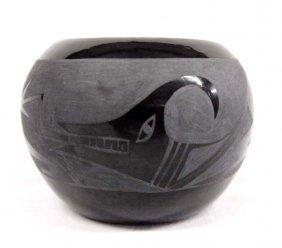 Native American Santa Clara Pottery Jar By Naranjo