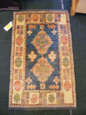 """Oriental Rug, Uzbek Kazak, 2' X 3'3"""""""