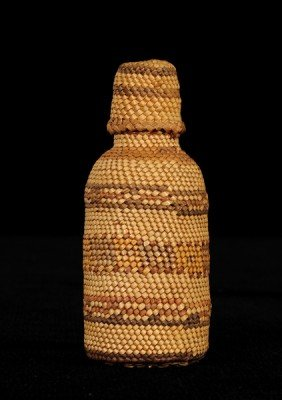 "Nuu-chah-nulth Basketry Covered Bottle 3 1/2"" H. 1"