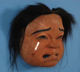 Beau Dick Crying Spirit Mask With Copper Tears 15""