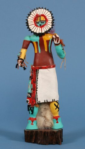 "Hopi Sun Kachina 14"" H.  Good Condition"